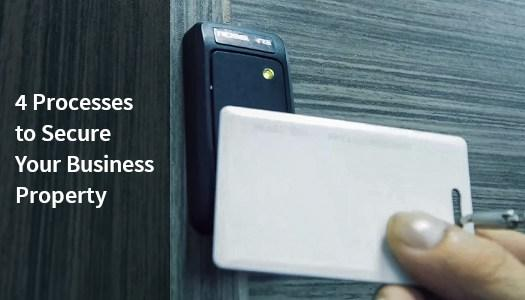 Using key card to securely protect a business.