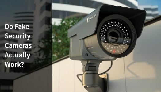 A fake security camera working with a red light.