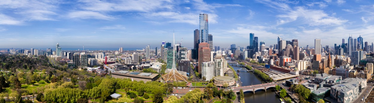 Melbourne VIC central business district aerial photo.