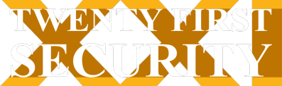 Twenty First Security logo.
