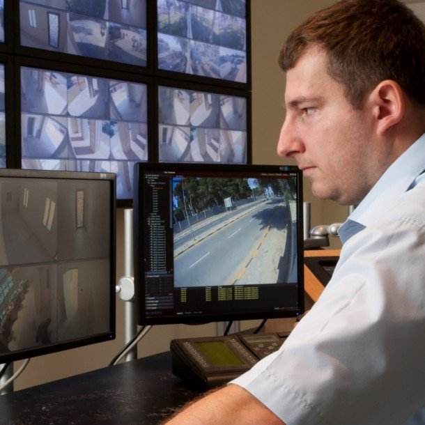 24 hour monitoring of CCTV and security cameras.